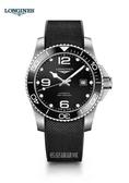 【送品牌禮物】 浪琴 深海征服者浪鬼陶瓷潛水機械錶L37824569黑-43mm