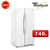 2018新品 WHIRLPOOL 惠而浦 WRS315SNHW 對開門冰箱 740L 純白 ※運費另計(需加購)