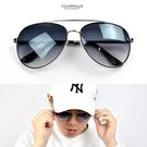 太陽眼鏡 帥氣漸層黑鏡片NY446