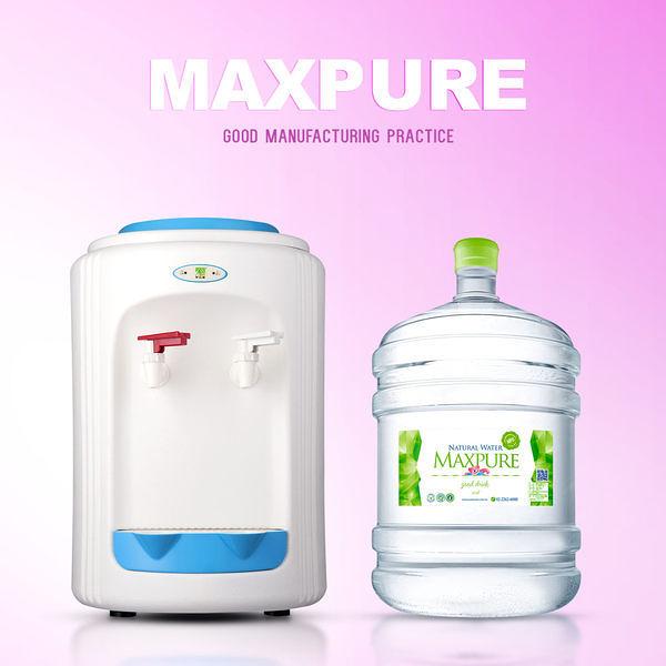 桶裝水 麥飯石涵氧水x100桶 (20公升/ 桶)+桌上型溫熱飲水機