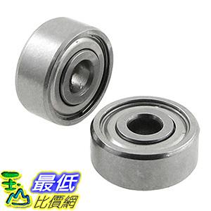 [106美國直購] Amico s15052700am0253 uxcell 5 Pcs Double Sealed 3 x 10 x 4mm Deep Groove Ball Bearings 623Z