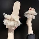 促銷全場九折 一字拖女外穿年新款夏季韓版學生網紅仙女風露趾平底涼拖女潮
