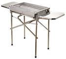 LIKA夢 戶外豪華折疊式厚實不銹鋼BBQ日式烤肉爐 104(爐52)X30X68CM (中) 旅行、露營、家庭適用 F32-1217