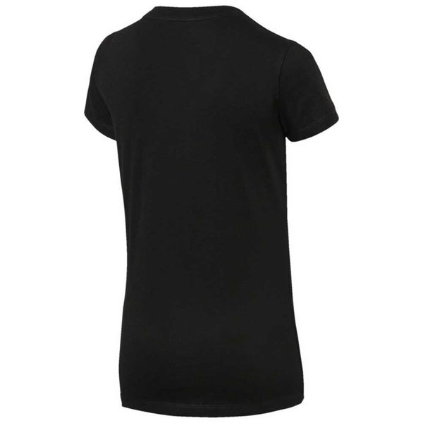 PUMA 女裝 短袖 上衣 圓領 舒適 透氣 肩膀織帶 素面 歐規 黑【運動世界】84505901