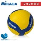 MIKASA 螺旋型軟橡膠排球 橡膠排球 室內 / 室外球 黃藍色 5號 入門款 MKV020WS 原價480元