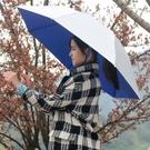 雙層防風防雨釣魚傘帽頭戴式雨傘防曬摺疊頭頂雨傘帽戶外遮陽垂釣 樂活生活館