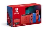 【神腦生活】任天堂 Switch瑪利歐限定版主機亮麗紅X亮麗藍(電池加強版)