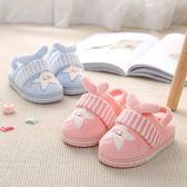 兒童毛拖鞋女寶寶棉拖鞋小公主1-3歲幼兒冬季防滑軟底可愛卡通男2