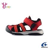 Moonstar月星童涼鞋 男女童涼鞋 護趾涼鞋 包頭涼鞋 速乾涼鞋 日本機能鞋 K9653#紅色◆奧森
