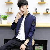 男士外套男秋季 新款韓國休閒潮流帥氣修身秋裝棒球服男裝夾克