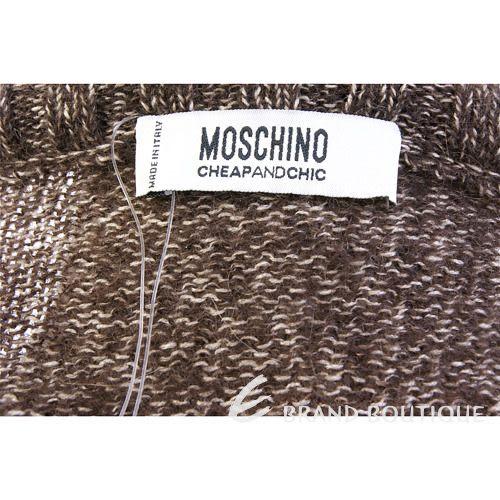 MOSCHINO 雪茄色花朵飾長袖毛衣 0510637-07