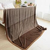 特大尺寸超暖細柔包邊金貂法蘭絨毯 (200x230cm) 曼特寧