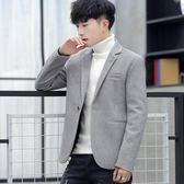 男士呢子西裝外套秋冬季韓版潮流百搭上衣服修身男裝英倫風小西服 SDN-0032
