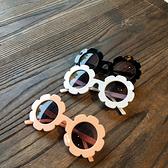 韓國ins兒童墨鏡太陽花眼鏡可愛寶寶防紫外線太陽鏡男女兒童眼鏡 店慶降價