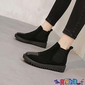 短靴 棉鞋女冬2021秋冬新款加絨加厚一腳蹬厚底時尚小短靴顯腳小馬丁靴 寶貝計畫