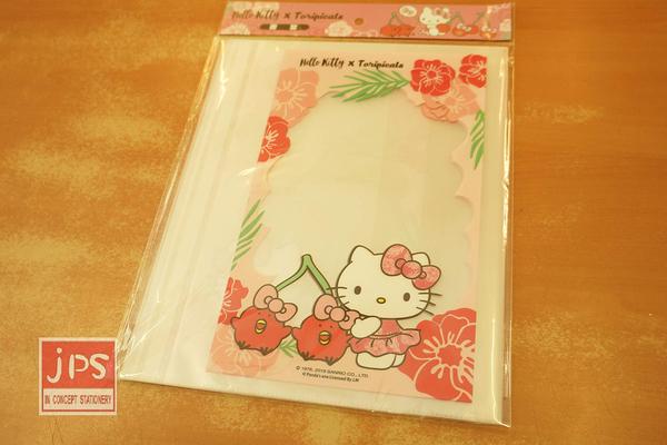 Hello Kitty×toripicals 凱蒂貓 熱帶水果鳥 書套 花花粉 KRT-216508A