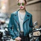 皮衣外套-經典個性時尚率性女機車夾克73hu20【時尚巴黎】
