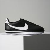 Nike Wmns Classic Cortez Leather 阿甘 黑白 807471-010