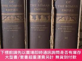 二手書博民逛書店Decline罕見and fall of the roman empire by Edward Gibbon --