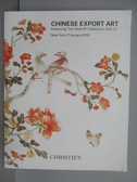 【書寶二手書T9/收藏_PMB】Christie s_Chinese Export Art_2019/1/17