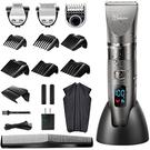 HATTEKER 【日本代購】電動理髮器 無線充電式可水洗LED 鬍鬚修剪器一台三用-RFC-69031