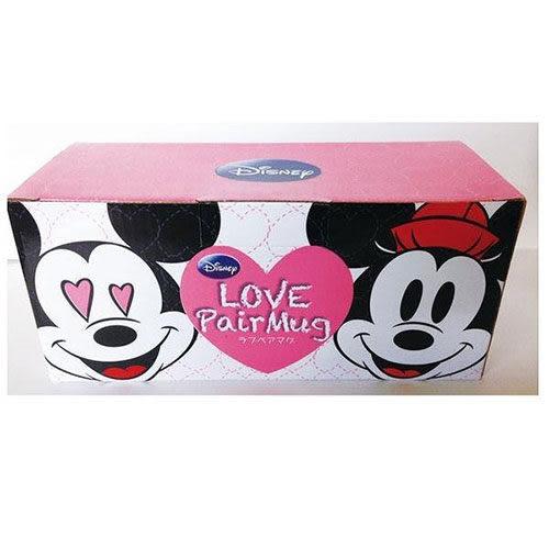 【震撼精品百貨】Micky Mouse_米奇/米妮 ~迪士尼米奇&米妮大臉浮雕陶磁馬克對杯組(情人眼裡冒愛心)