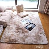 地毯客廳茶幾地毯時尚個性長毛可水洗臥室飄窗地毯       艾維朵
