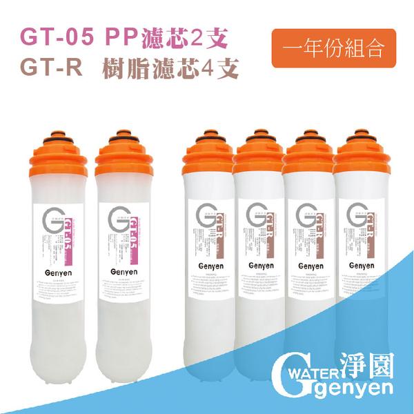 [淨園] GT-05 PP濾心2支+GT-R樹脂濾心4支--有效去除泥沙鐵鏽、水垢石灰質