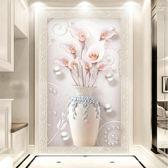 2018新款客廳玄關鑽石畫滿鑽植物花卉貼鑽十字繡餐廳豎版鑽石繡5dWY【端午節免運限時八折】