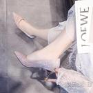 2021年新款百搭單鞋細跟尖頭女鞋高跟伴娘鞋白色婚紗中跟結婚鞋子 小時光生活館