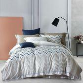 特價中~✰雙人加大 薄床包兩用被四件組 加高35cm✰ 100% 60支純天絲 頂級款 《風的腳印》