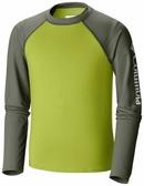 【Columbia】兒童防曬50快排長袖上衣 - 果綠色AY14390(DL)
