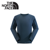 【The North Face 男款 FlashDry保暖圓領衫 蔭藍】NF00CL72/FlashDry/長袖內搭★滿額送