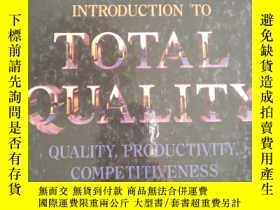 二手書博民逛書店INTRODUCTION罕見TO TOTAL QUALITYY6