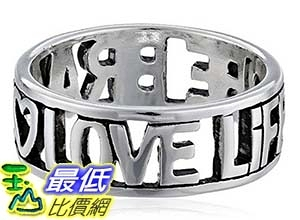 [美國直購] Sterling Silver Love Life Be Brave Cut Out Ring 戒指