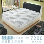 【IKHOUSE】馬德里|乳膠蜂巢獨立筒床墊-雙人5尺-可接受尺寸訂製