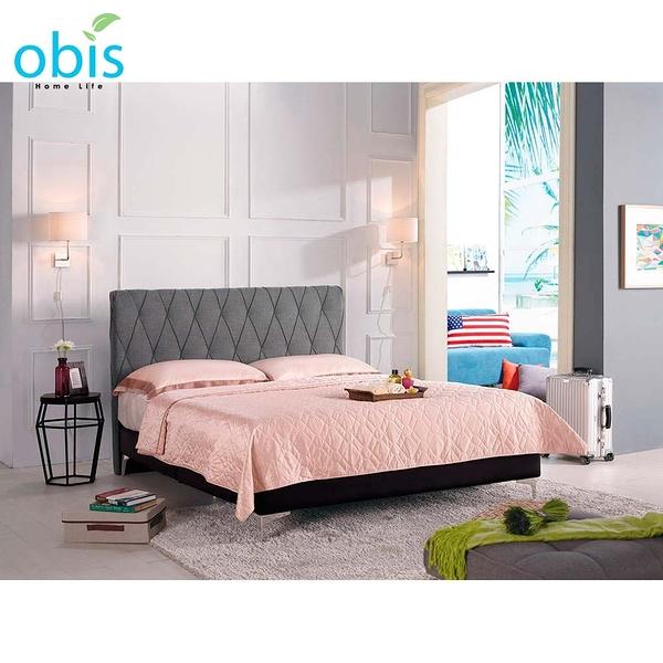 OB003-法莉嘉5尺雙人床(灰色布)(19CM/656-4)【DD House】