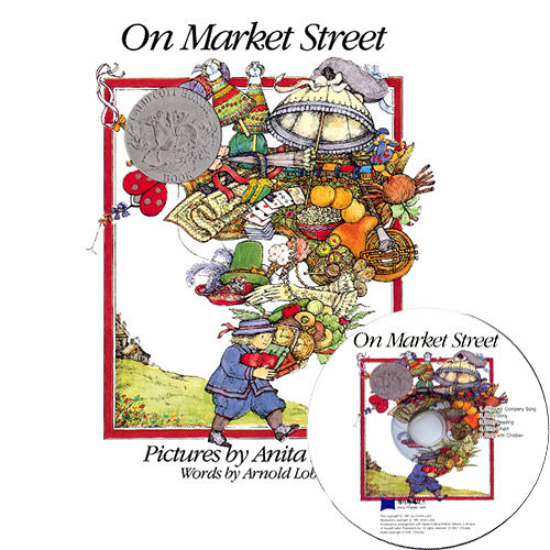 【麥克書店】ON MARKET STREET /英文繪本附CD《字母》