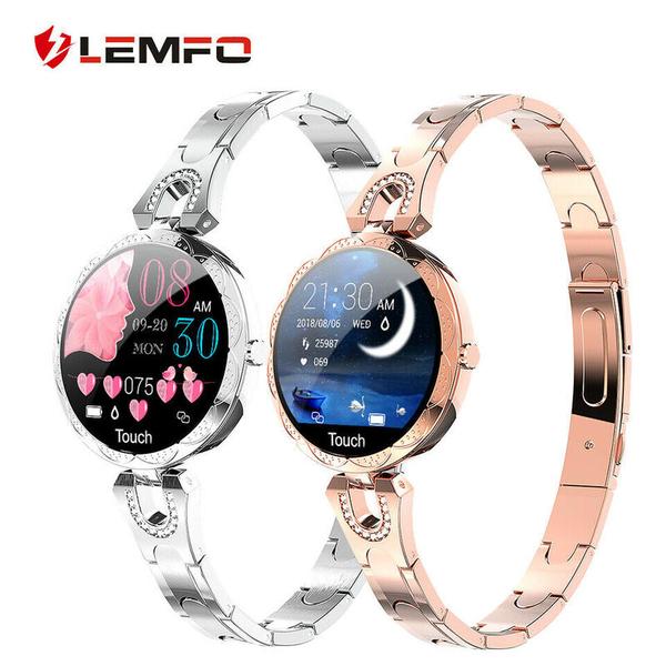 女性智慧手環 手錶 手鍊 銀飾 訊息通知/心率/記步/運動/生理期提醒 禮品 生日禮物