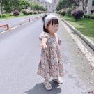 熱賣兒童洋裝 純棉兒童復古碎花裙女童短袖連身裙童裝露背裙子寶寶2021夏裝新款【618 狂歡】