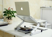 筆記本支架折疊升降增高頸椎Mac電腦桌面散熱器底座站立辦公托架 星河