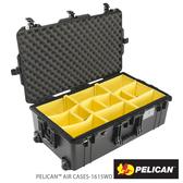 美國 PELICAN 1615 Air WD 輪座拉桿超輕氣密箱-含隔板(黑) (公司貨)