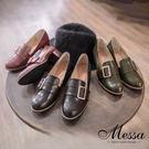 【Messa米莎專櫃女鞋】MIT英倫雅痞金屬飾釦內真皮孟克鞋-三色