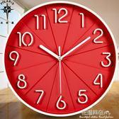 北極星時尚掛鐘立體靜音辦公客廳鐘錶時鐘臥室掛錶簡約創意石英鐘·花漾美衣