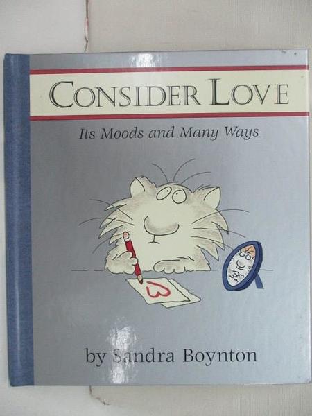 【書寶二手書T5/少年童書_BNK】Consider Love