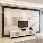 壁紙北歐電視背景墻立體簡約客廳影視墻布裝飾壁畫【極簡生活】