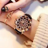 正韓手錶水?錶 時尚潮流手錶女士皮帶正韓時來運轉石英錶休閒 快速出貨