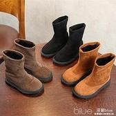 女童靴子冬季中筒靴中大童雪地靴女孩休閒靴公主靴兒童靴  【2021新春特惠】