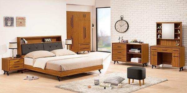 【森可家居】安德里5尺床頭 8ZX381-6 雙人 床頭箱 木紋質感 北歐工業風