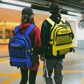 街拍書包高中學生時尚校園男女情侶超火電腦背包大容量雙肩包 可可鞋櫃